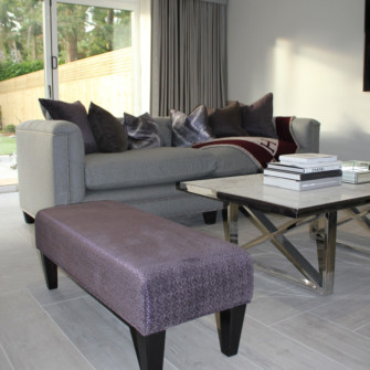 Bespoke Chesterfiled sofa and footstool